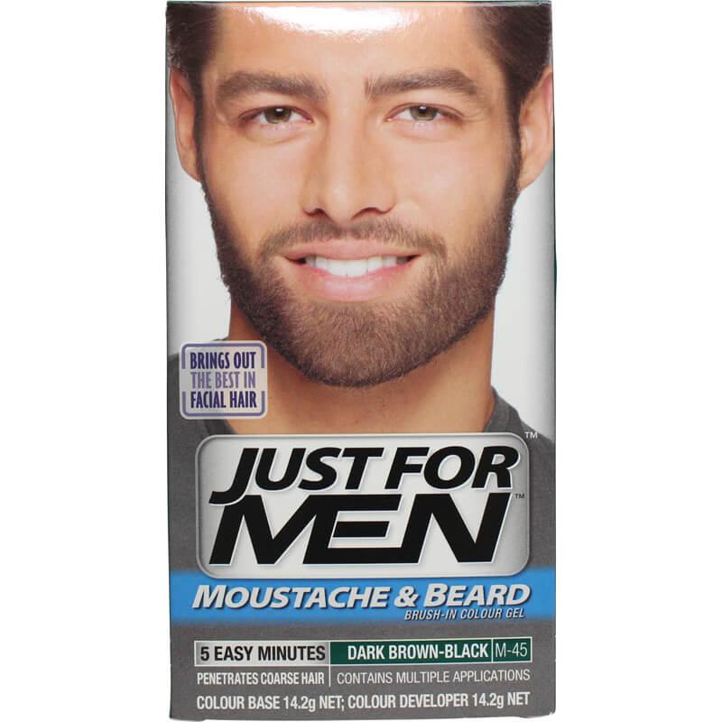 Just For Men Moustache & Beard Brush-In Colour Gel Brown Black ...