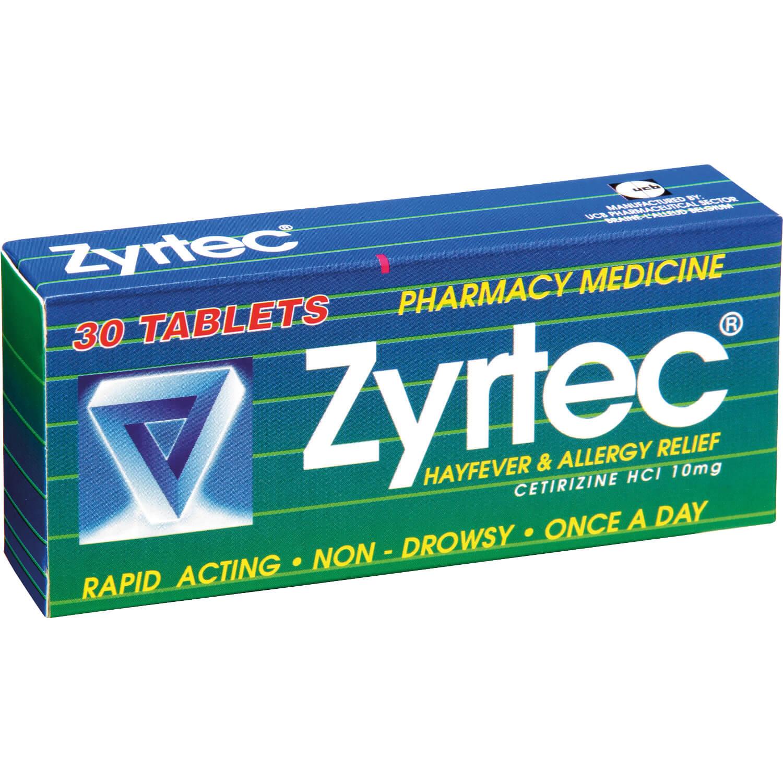 Zyrtec 10mg Tablets 30s Life Pharmacy New Zealand