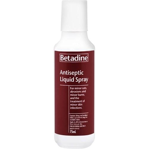 Betadine Antiseptic Liquid Spray 75ml   Life Pharmacy New