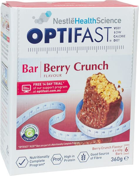 Optifast Vlcd Berry Crunch Bars 6s