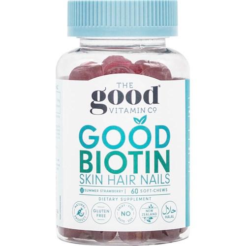 The Good Vitamin Co. Good Biotin Skin Hair Nail Soft-Chews 60s ...