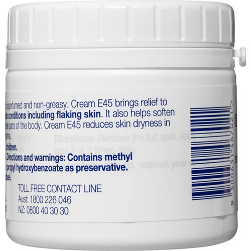 E45 Moisturising Cream for Dry Skin & Eczema 125g   Life