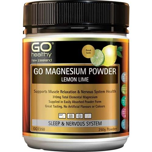 Go Healthy Go Magnesium Powder Lemon Lime 250g Life Pharmacy New Zealand